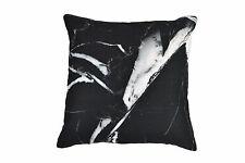 100% Cotton Cushion - Black Marble 45 x 45 cm