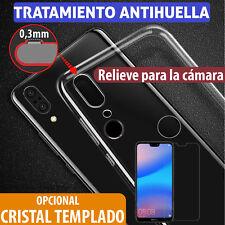 FUNDA TPU gel TRANSPARENTE PARA Huawei P20 Lite + PROTECTOR DE CRISTAL TEMPLADO