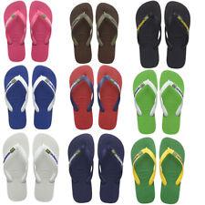 Havaianas Hav Brasil Men Rubber Flip Flops Beach Sandals Women Size Uk 3 4 5 6 7