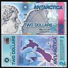 ANTARCTICA 2 DOLLARS 2008 PENGUIN POLYMER UNC ROSS MONEY COMM NOTE NEW ZEALAND