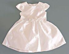 Baby Girl Genuine Carter's Dress 2 Piece Set White Silk Wedding Christening 24m
