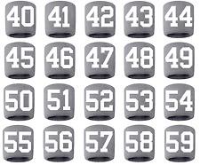 #40-59 Number Sweatband Wristband Lacrosse Softball Volleyball Soccer Gray White
