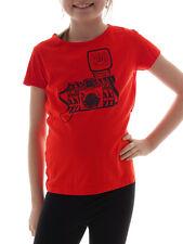 BRUNOTTI T-shirt Haut Basic BIMA rouge col rond ajustement régulier caméra