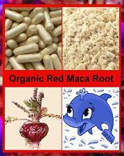 An Organic Source RED Maca Root Capsules - Natural Vegetarian HRT Alternative.