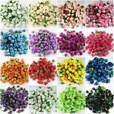 10X 50X100X Mini Rose Artificial Silk Flower Head Party Wedding Decor Wholesale