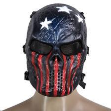 Skull Airsoft Mask Full Face Paintbal Skeleton Eye Shield Halloween Cosplay New