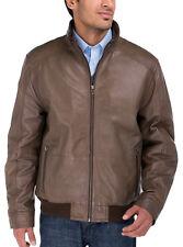 Luciano Natazzi Mens Lambskin Leather Vintage Washed Moto Jacket