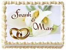 CALLA LILY  WEDDING CAKE Image Edible Cake topper design