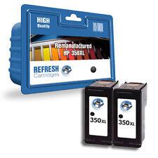 2 REMANUFACTURED BLACK HP HIGH CAPACITY XL INK CARTRIDGES HP 350XL HP350XL