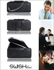 """Horizontal Case Tasche Swish Line """"XS"""" Ledertasche Samsung E250 E1050 C3050- NEU"""