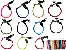 Hundehalsband Würger Stopring xs S M L xL rund gewebt Nylon Leder Hunde Halsband