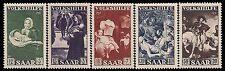 GERMANIA/DEUTSCHLAND-SARRE 1951 - n. 296/300 NUOVI, QUADRI € 65