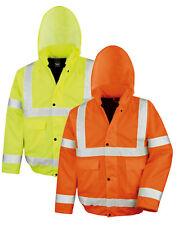Waterproof EN471 High Viz Vis YELLOW ORANGE Winter Blouson Motorway Jacket Coat