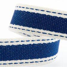 Full Roll 10m Sadle Stitch Cotton Twill Ribbon - Royal Blue - Crafts - Sewing