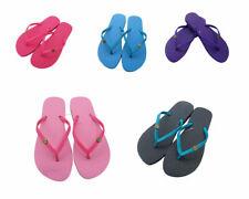 Ladies Flat Toe Post Shoes Women's Jelly Flip Flops Sandals Summer Beach