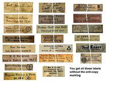 V108 Old Vintage Antique Violin Fiddle Maker Set of 22 Labels NICE!