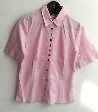Damen Trachten Bluse rosa m. Stickerei Gr. XS, S, M v. Arido