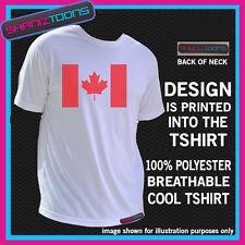 Canada Canada bandiera emblema stampato DESIGN COOL Sport Maglietta traspirante