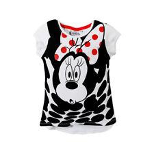 DISNEY t-shirt MINNIE 3 4 6 ou 8 ans  blanc noir manches courtes NEUF