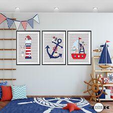 SET OF Three Nautical wall Prints/ Nursery Prints/Various Sizes,boys prints
