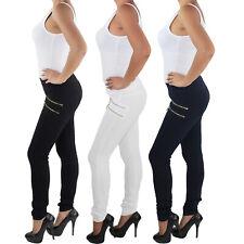50 Jeggins Legging Stretch Tessuto Pantaloni Jeggings Leggings Tg 44...