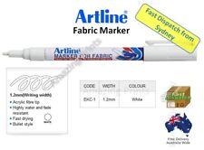 GENUINE Artline White Fabric Marker pen pack Laundry Cloth Textile Linen paint