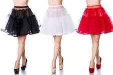 50er Petticoat Unterrock Tutu Rock Tüll Rockabilly Schwarz Rot Weiß 50s Jahre