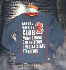 Brams Paris Sweatshirt Sweater Sweat Jungen Print  BlauGrau Gr. 92 110/116 NeU
