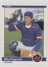 1984 Fleer Update #U-37 Mike Fitzgerald New York Mets RC Rookie Baseball Card