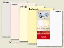 Briefpapier Büttenpapier A4 25 Bogen 120g div. Farben Bütten Briefbogen Brunnen