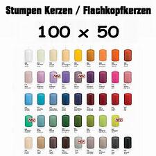 24 Stumpen Kerzen 100x50mm 1.Wahl RAL Qualität / Kerzen Wiedemann / Topseller