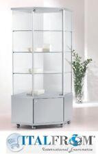 Corner Schaukasten mit Schrank H183x73x73 Möbelgeschäft Theca Glaswand Italfrom