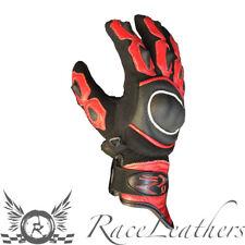 RS motorhart Rojo Corto PUÑOS Cuero Textil Enduro Guantes Para Motocicleta