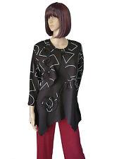 Gr. L  NEW JERSEY  2Teiler Long-Shirt/Tunika mit Kurz-Jacke Schwarz Jersey