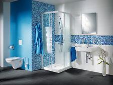 Mosaik Fliesen mix hellblau/blau Glas mit Effekt Spots Wand Art: 52-0402_b