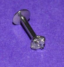 6 mm x 1.2 mm Internamente Filettato 3 mm Chiaro Cristallo Labret Monroe Labbro Bar