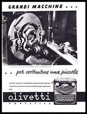 PUBBLICITA' 1937 OLIVETTI PORTATILE MACCHINA PER SCRIVERE IVREA