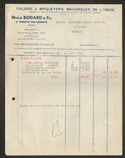 """VERNEUILsur-IGNERAIE (36) TUILERIE BRIQUETERIE """"Michel BODARD"""" en 1953"""