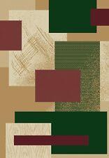 BEIGE green MODERN contemporary CARPET squares BERBER tan SHAPES area RUG