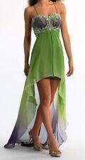 DAVE & JOHNNY Hi Low Ombre Corset Rhinestone Long Prom Formal Dress NWT Jrs Sz 0