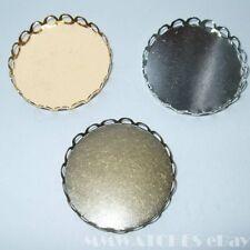 Cycle 25mm 20mm plat 18mm argent or bronze cameo cabochon pendentif décor C09