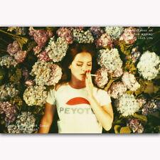58394 Lana Del Rey Soul Flower Beauty Music Star FRAMED CANVAS PRINT UK