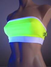 Schminke Neon bra crop top boobtube boob tube bandeau no padding club rave fluro