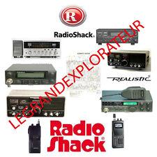 Radio Shack & Realistic Radio Operation Repair Service manual Collection on DVD