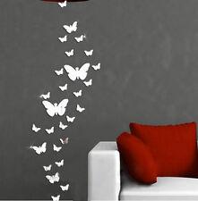 Sticker Autocollant Miroir Argenté Murale Maison Mur Chambre DIY Moderne Cadeau