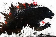 "Godzilla Movie 36"" x 24"" Large Wall Poster Print Decor Gift Monster"