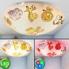 Plafonnier LED pour enfants avec salle de jeux, lampe en verre au REMOTE CONTROL