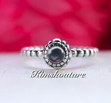 New ! Women's Ring Birthday Bloom  Blue 925 Sterling Silver 6,7,8,9