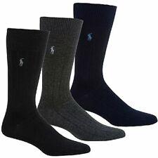 Polo Ralph Lauren Men's 3-Pairs Rib Dress Trouser Socks