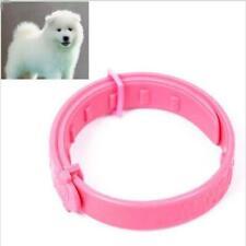1X Pet Cat Dog Pest Flea Collar Protection For Fleas Ticks Mites Access Pink LH